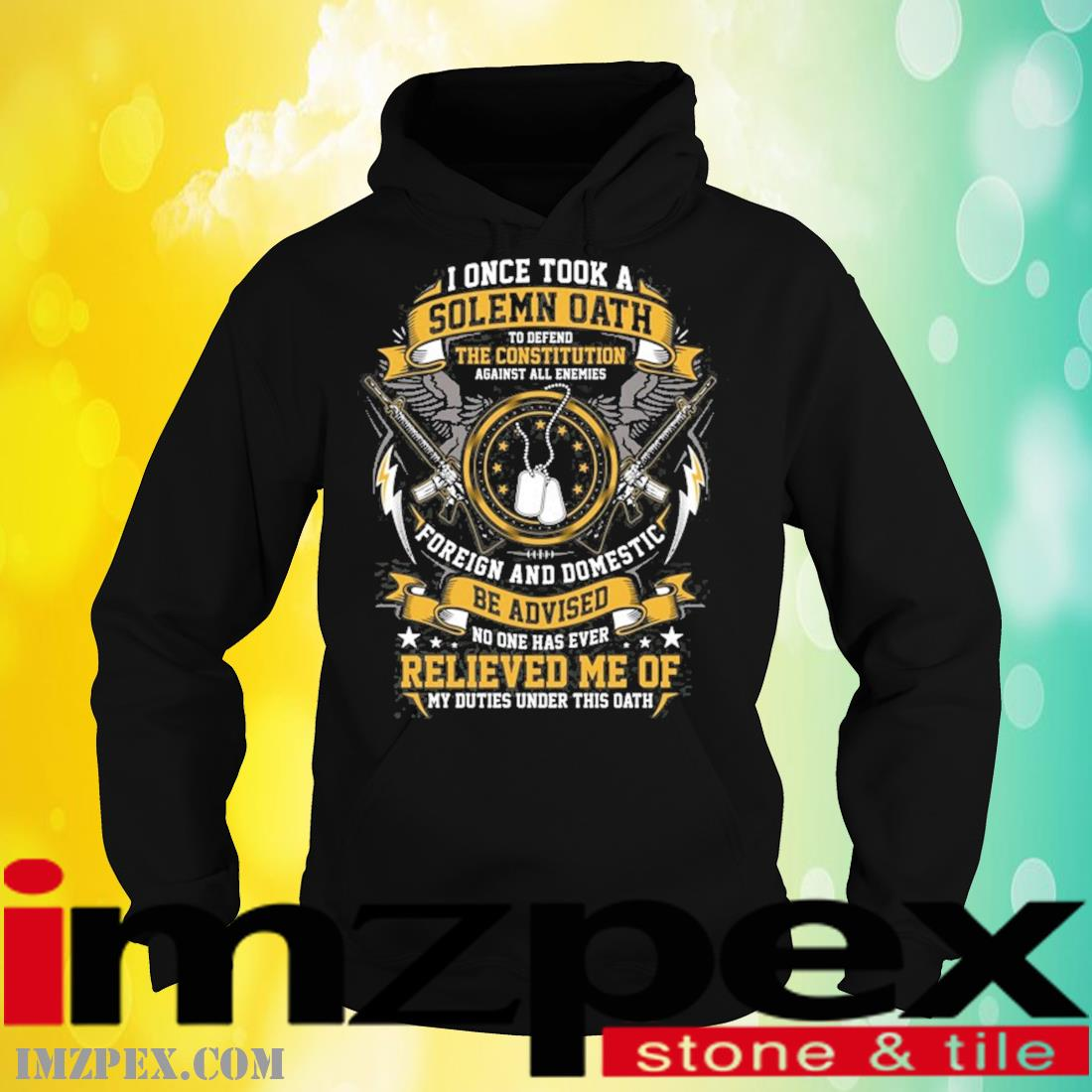 I Once Took A Solemn Oath Defend The Constitution Foreign And Domestic Be Advised Relieved Me Veteran Shirt hoodie