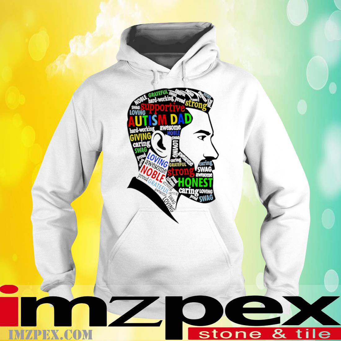 Autism Dad Supportive Strong Shirt hoodie