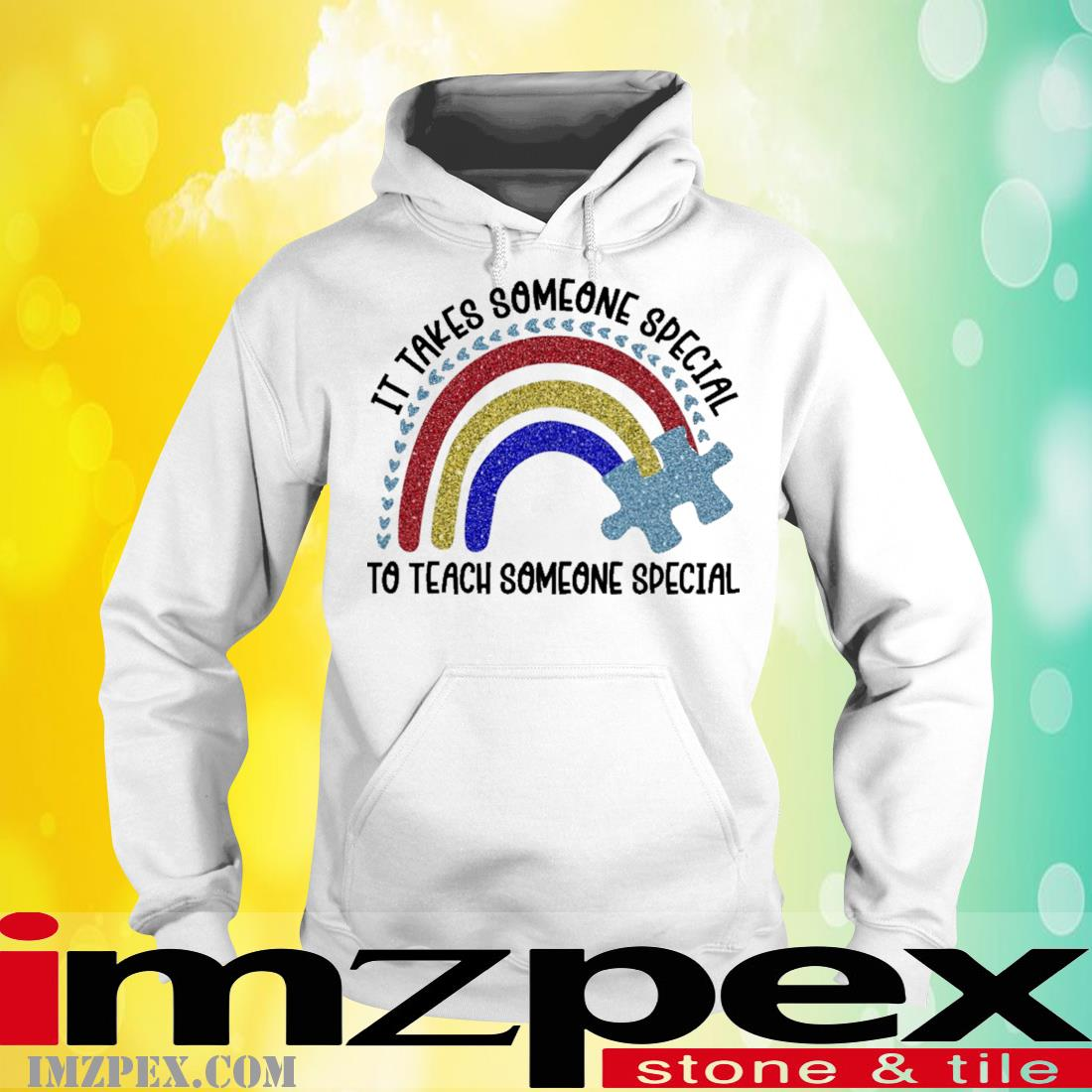 Autism Rainbow It Takes Someone Special To teach Someone Special Shirt hoodie