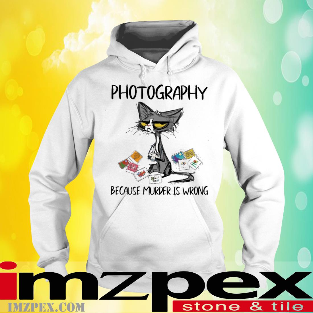 Black Cat Photography Because Murder Is Wrong Shirt hoodie