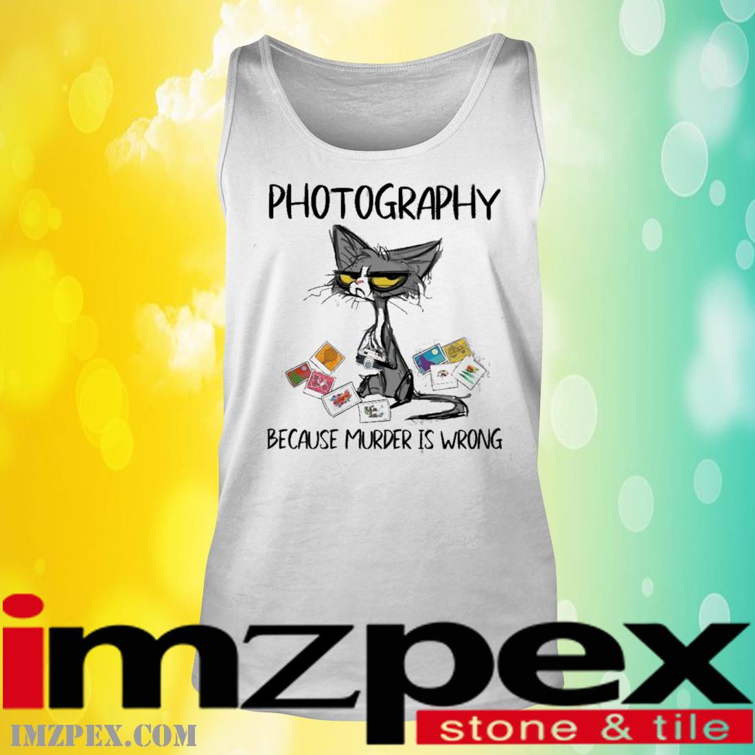 Black Cat Photography Because Murder Is Wrong Shirt tank top
