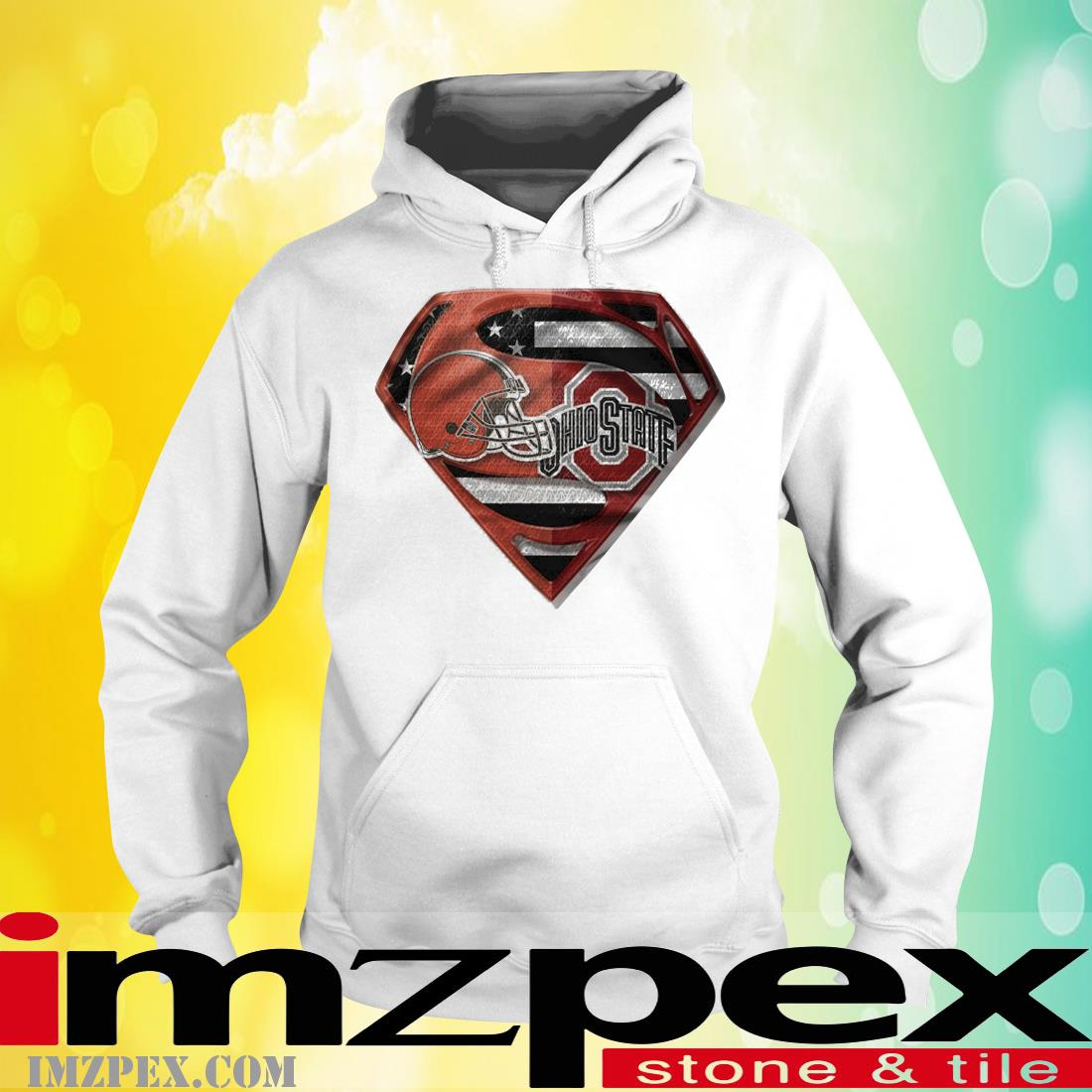 Cleveland Browns and Ohio State Buckeyes Superman hoodie