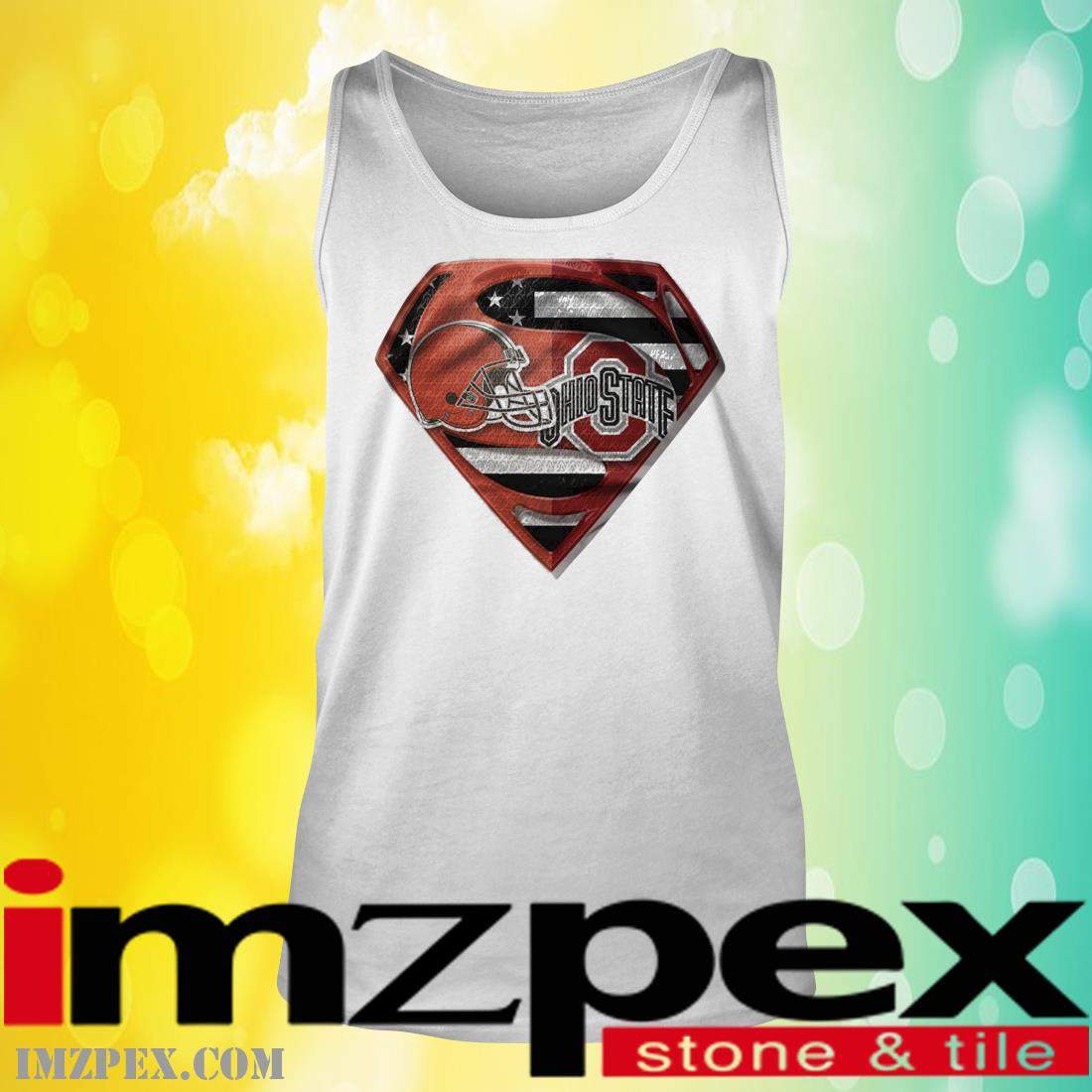 Cleveland Browns and Ohio State Buckeyes Superman tank top