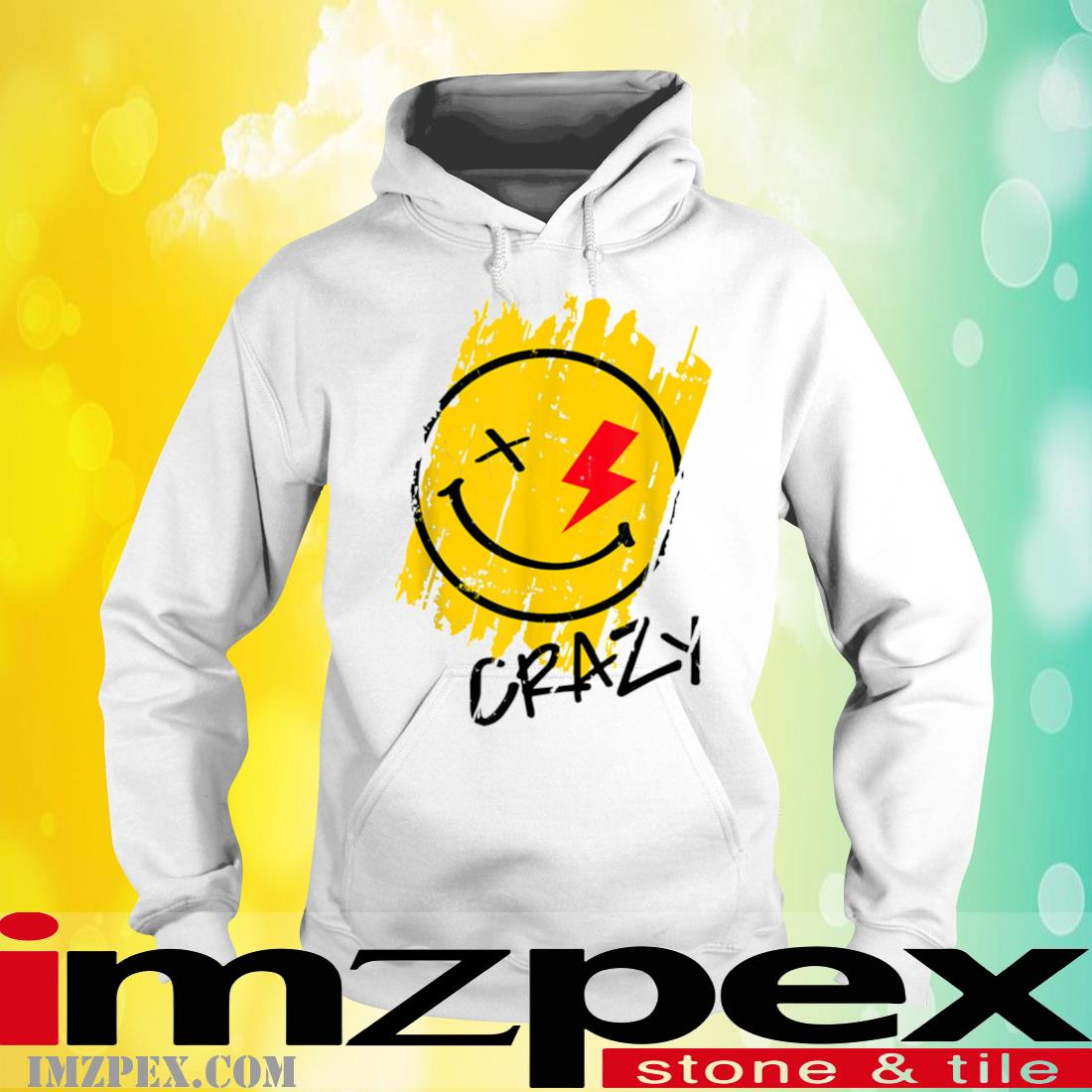 Crazy Happy Smiley Face Noveltys _ Cool Designs Shirt hoodie