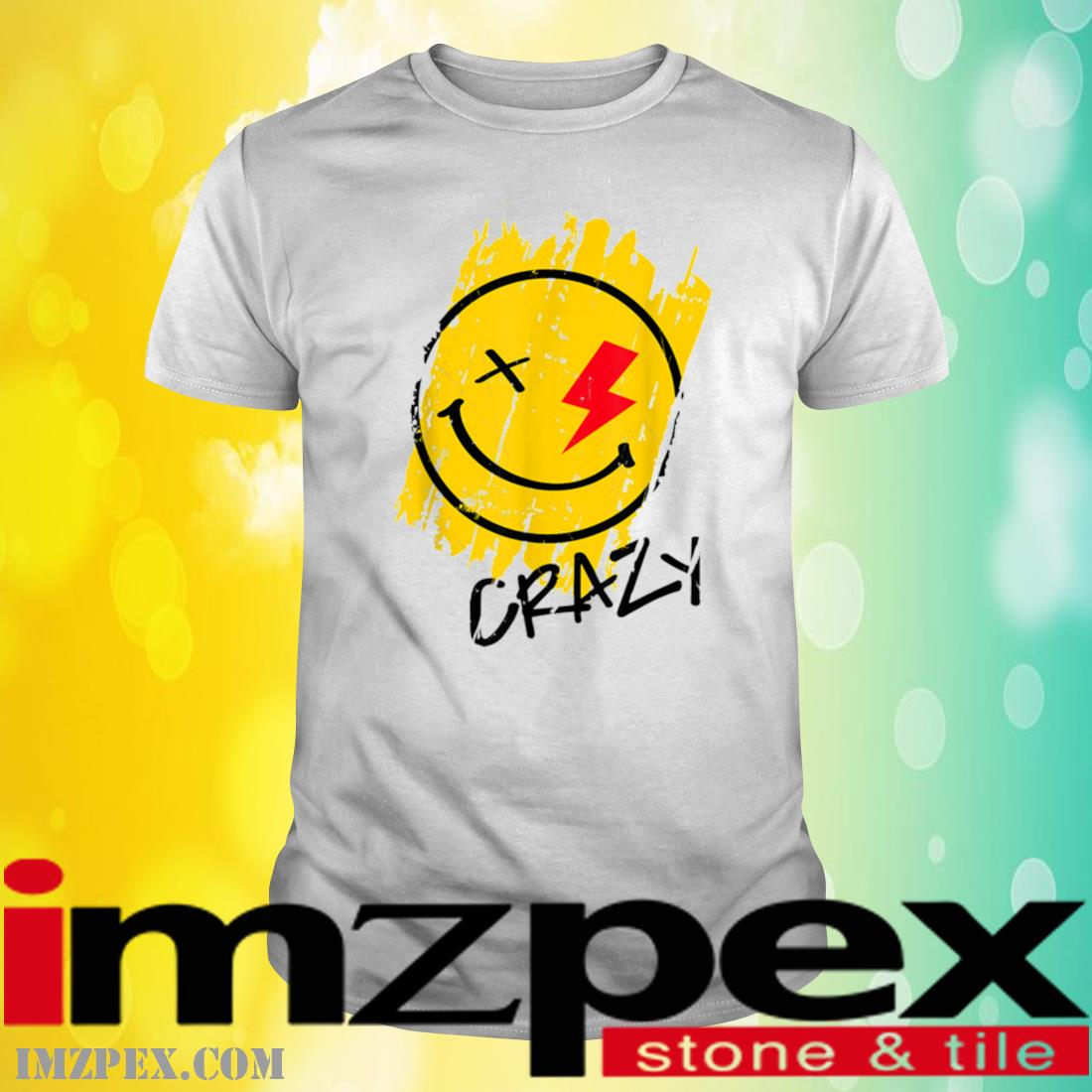 Crazy Happy Smiley Face Noveltys _ Cool Designs Shirt