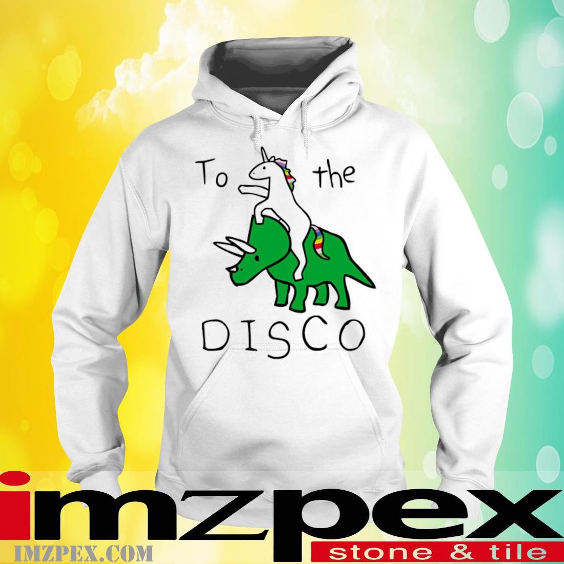Unicorn Riding Triceratops To The Disco Shirt hoodie