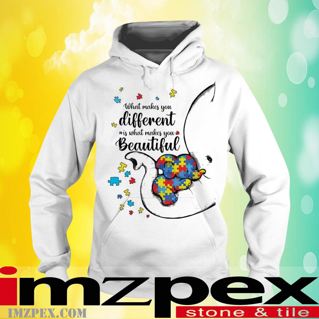 What Makes You Different Elephant Mom Autism Child Awareness Shirt hoodie