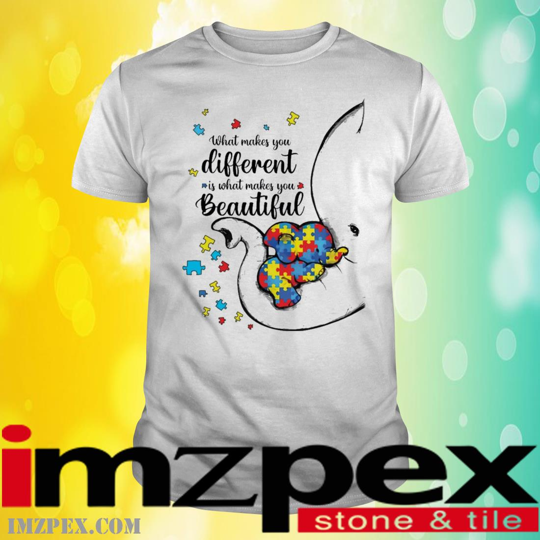 What Makes You Different Elephant Mom Autism Child Awareness Shirt