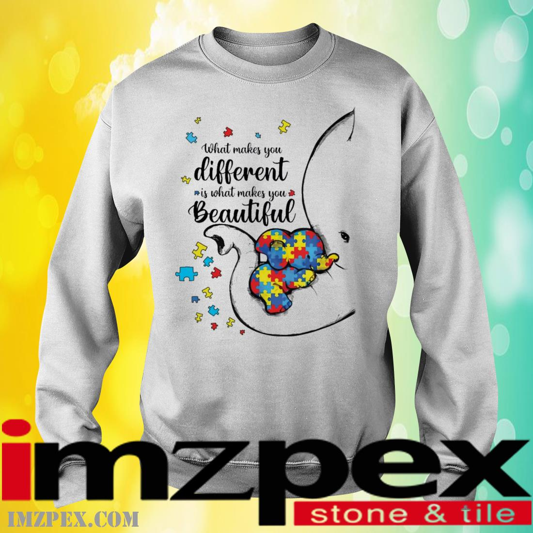 What Makes You Different Elephant Mom Autism Child Awareness Shirt sweatshirt