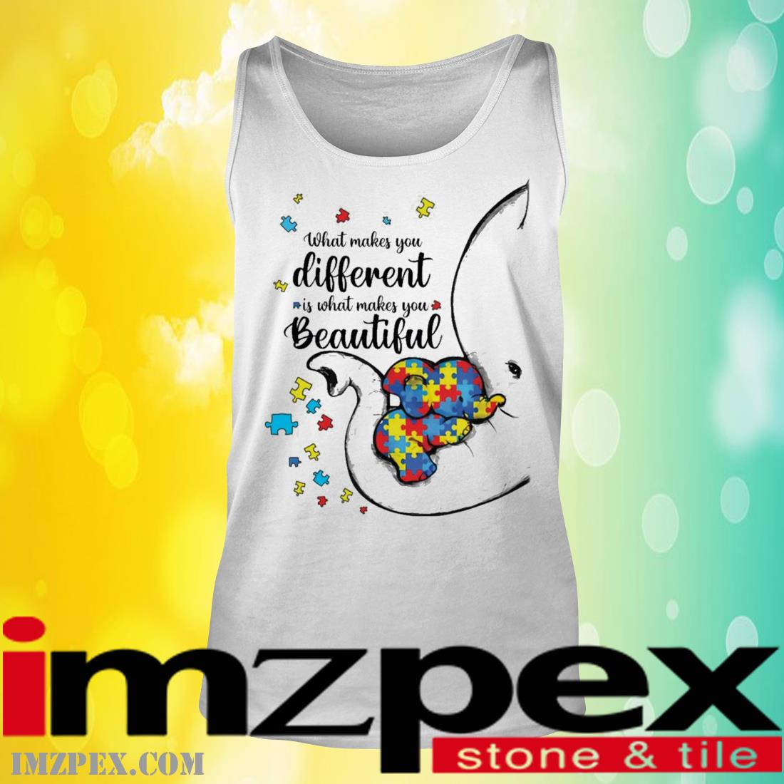 What Makes You Different Elephant Mom Autism Child Awareness Shirt tank top