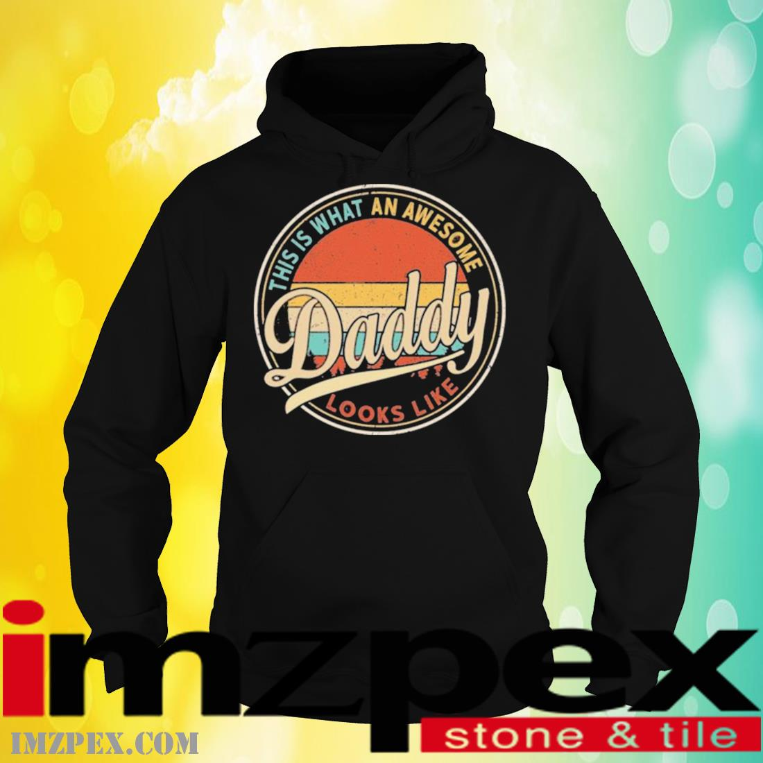 This Is What An Awesome Daddy Looks Like Retro Vintage Shirt hoodie