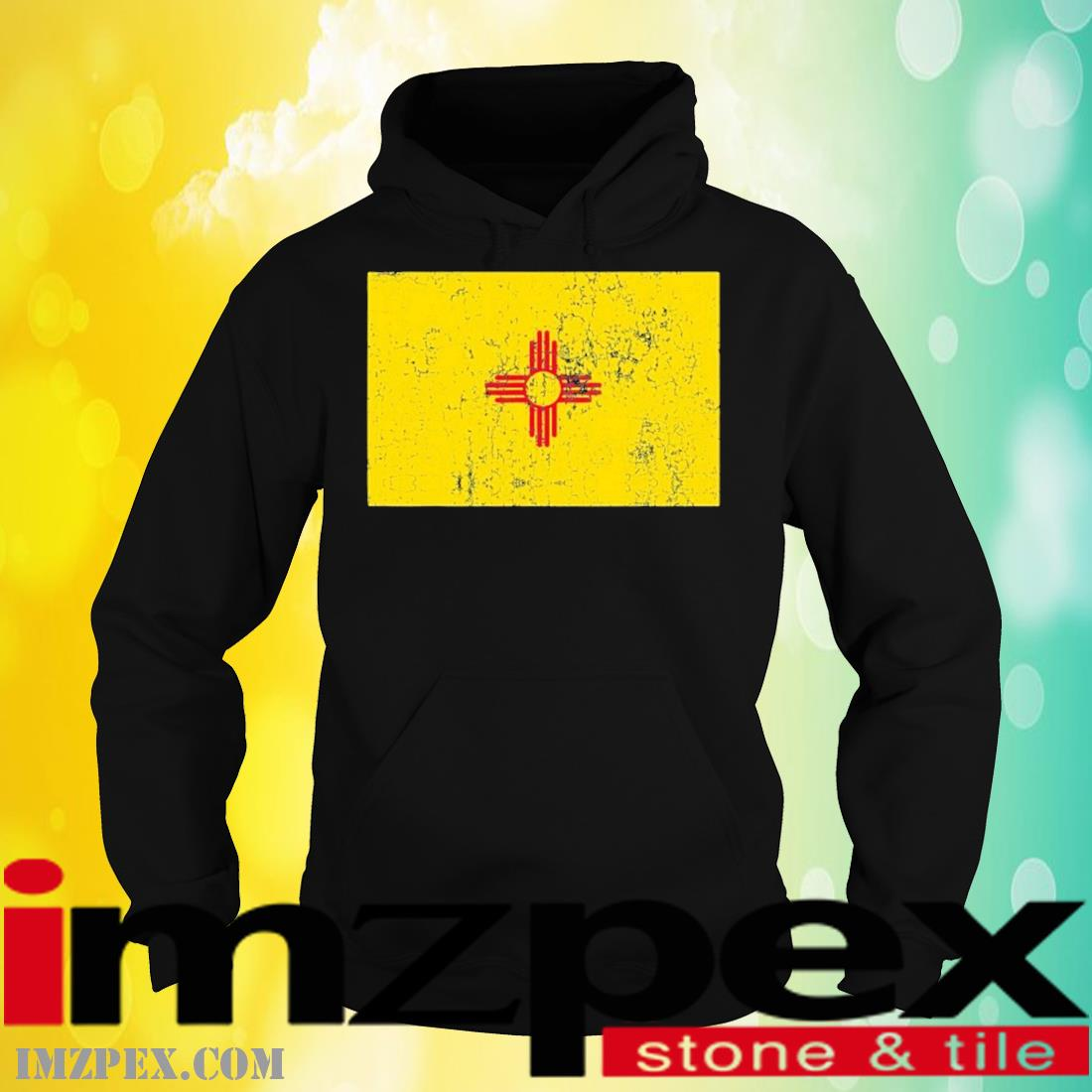 Vintage Zia Sun Products Weathered Zia Sun New Mexico Flag Shirt hoodie