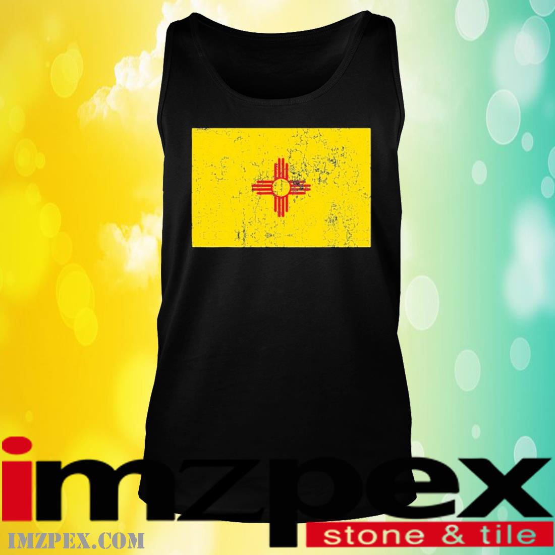 Vintage Zia Sun Products Weathered Zia Sun New Mexico Flag Shirt tank top
